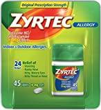 Zyrtec Allergy Tablets 45 ct (10 mg)