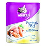 Whiskas Purrfectly Fish Sardine & Mackerel Entree in Natural Juices Food for Cats, 3-Ounce Pouches (Pack of 24) ~ Whiskas