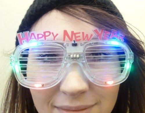 Toyland Flashing Multi Colour Led Novelty Happy New Year Glasses (Fl13)