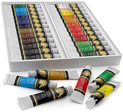 Acrylic Paint Set 24 X 12ml Art Paints Artist