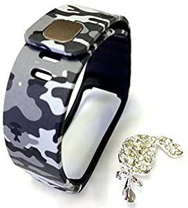 1pc Replacement Camouflage Army Camo Military Band & Metal Clasp For Samsung Galaxy Gear Fit Bracelet Smart Wristband Wireless Activity Bracelet Sport Bracelet Sport Arm Band Armband + Nice Crystals Feather Brooch marca Pl