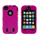 Body Armor for iPhone 4 / 4th Generation - Hot Pink & Black