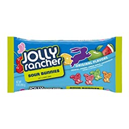 Jolly Rancher Sours Soft & Chewy Bunnies, 10-ounce (Pack of 2)