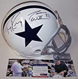 Jason Witten and Tony Romo Autographed Hand Signed White Dallas Cowboys Full Size Authentic Football Helmet - PSA/DNA