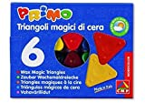 Wax Crayons Triangles 6 Assorted Colours Box