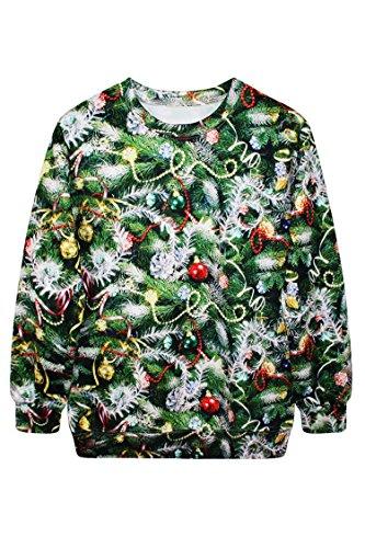 Pink Wind Funny Snowmen Snowflake Print Christmas Sweatshirt Sweater Green