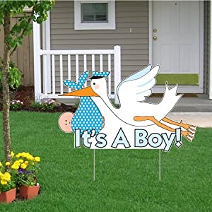 It's a Boy Announcement Kit - Stork Yard Sign, Baby on Board and Baby Sleeping Signs