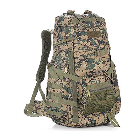 Grand sac / sac à bandoulière capacité camouflage / sac à dos tactique extérieur / sac d'alpinisme-2 60L