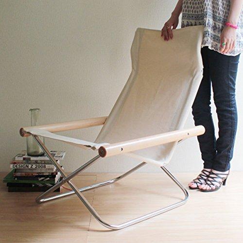 【正規ライセンス】Ny chair X 「ニーチェア エックス」ナチュラル                  【デザイナー:新居猛】【MOMA】【折り畳み】【ラウンジチェア】【読書】【アームチェア】