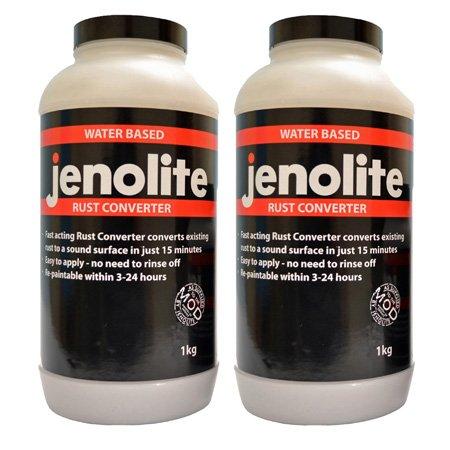 2 x JENOLITE Rust Converter Treatment 1 Litre Fast Acting