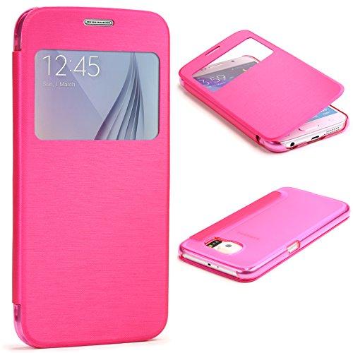urcoverr-samsung-galaxy-s6-carcasa-protectora-plastico-tpu-en-rosa-pink-funda-con-ventana-flip-case-