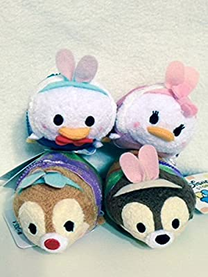 4pc Mini Tsum Tsum Plush Set Goofy, Pluto, Chip, and Dale Easter for Sale