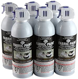 simply spray upholstery fabric spray paint 8 oz can 6 pack midnight. Black Bedroom Furniture Sets. Home Design Ideas