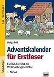 Adventskalender für Erstleser: Esel Muli erlebt die Weihnachtsgeschichte - Erstklässler. Kopiervorlagen