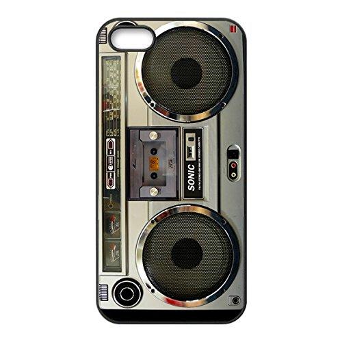 Nostalgic Boombox Vintage Hd Phone Case For Iphone 5/5S Case (Black)