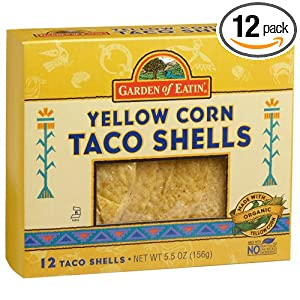Garden of Eatin' Taco Shells, Yellow, 5.5 Ounce Boxes (Pack of 12)