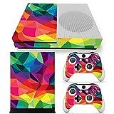 SKINOWN Skin Sticker for Microsoft Xbox One S Slim Console and 2 Controller (Color: Coloful2)