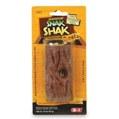 eCOTRITION Snak Shak Treat Stuffer for Hamster/Gerbil 51XJgUIyOjL