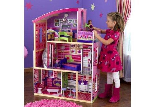 Top Kidkraft Wooden Modern Dream Glitter Dollhouse fits barbie Toy/Game/Play Child/Kid/Children