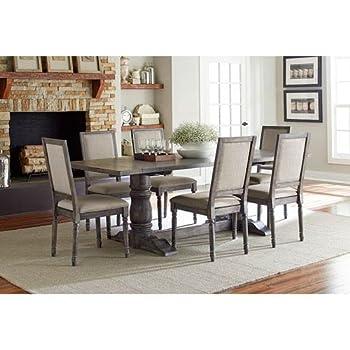 Progressive International Complete Dining Table in Dove Gray