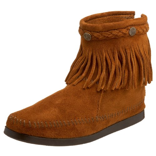 Minnetonka Women's 292 Back-Zip Boot,Brown,7 M US