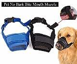 (イーエフイー)EFE 犬口輪 ナイロン製 無駄吠え防止 しつけ用 噛みつき 通気性 ソフト 水を飲める でかけ用品 ブラック/ブルー S/M/L/XL/XXL 5-60KG対応