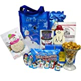 Art of Appreciation Gift Baskets Let It Snow! Snowman Tote Bag - Christmas Cookie and Candy Gift Basket