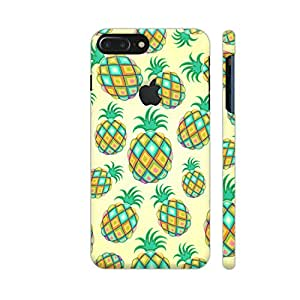 Colorpur Pineapple Pastel Colors Pattern Designer Mobile Phone Case Back Cover For Apple iPhone 7 plus with hole for logo | Artist: BluedarkArt