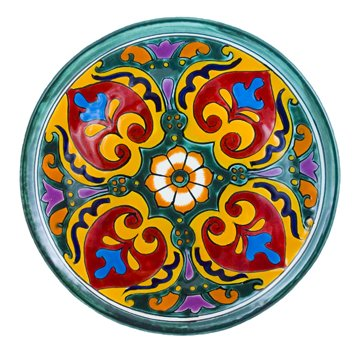 Cheap Decorative Plate Mexican Talavera Ceramic (Green Base) - MCG* Review  sc 1 st  Dinner Plates & Dinner Plates: Decorative Plate Mexican Talavera Ceramic (Green Base ...