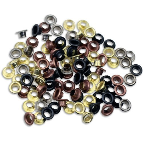 "Find Bargain 100pc 3/16"" Metal Eyelets Shoes Clothes Crafts - 4 Colors"