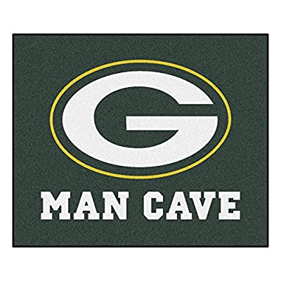 FANMATS 14307 NFL Green Bay Packers Nylon Universal Man Cave Tailgater Rug