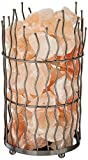 WBM 1312 Pillar Natural Air Purifying Himalayan Salt Lamp with Crystal Chunks, Bulb and Dimmer Switch