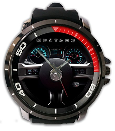 Hot Item Custom Speedometer Mustang Snap On Watch Alloy Stainless-Steel With Rubber Band