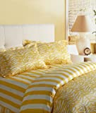 Image by Charlie Kenya Duvet Cover Set, Spectra Yellow/Off-White, Queen