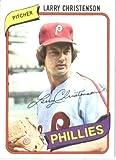 1980 Topps Baseball Card #161 Larry Christenson Mint