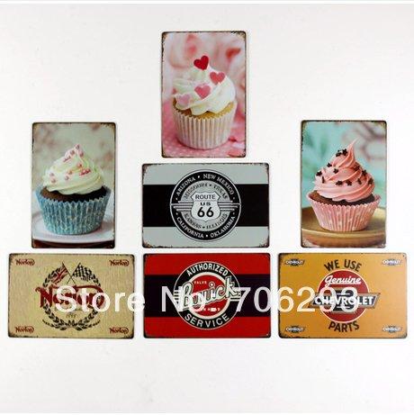 Lucky-Zakka-peinture-mtallique-rtro-cake-66-signes-barre-de-fer-coffee-shop-Dcoration-Dcoration-maison-affiches-bote-lectrique-metal-Set