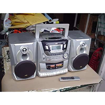Jvc pc x250 ac dc large portable boombox w aux in and remote