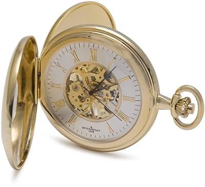 Bouverat 1919 Pocket Watch BV824104 Gold Plated Half Hunter