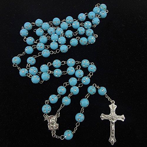 unique-plastic-beads-rosary-muliticolor-catholic-necklace-cross