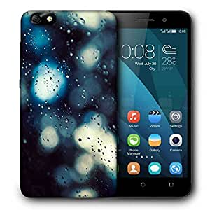 Snoogg Water Drops On Glass Printed Protective Phone Back Case Cover For Huawei Honor 4X
