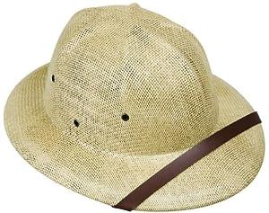 Adult's Tan Safari Pith Helmet Costume Hat