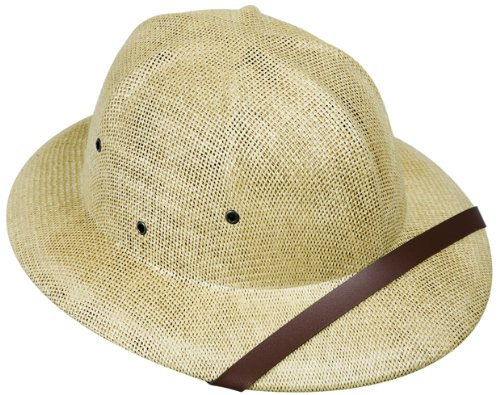 Adult`s Tan Safari Pith Helmet Costume Hat