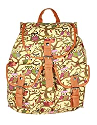 Fashion Lady Owl Pattern Casual Shoulder Bag Rucksack coupon codes 2015