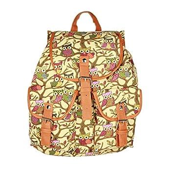 Fashion Lady Owl Pattern Casual Shoulder Bag Rucksack sale 2015
