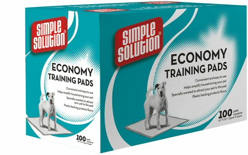 image Simple Solution Economy Puppy Training Pads, 100-Count