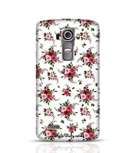 Style baby Seamless Pattern Roses And Freesia LG G4 Phone Case