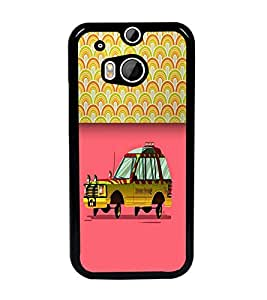 PrintDhaba Car D-5488 Back Case Cover for HTC ONE M8 EYE (Multi-Coloured)