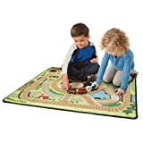 Melissa & Doug Round the Rails Train Rug - 39 x 36