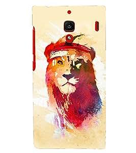 PRINTSHOPPII LION COLORFULL Back Case Cover for Xiaomi Redmi 1S::Xiaomi Redmi (1st Gen)