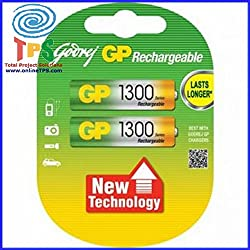 Godrej GP AA 1300mAh NiMh Rechargeable Battery Pack of 2